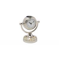Часы настольные круглые хром 79MAL-5327-19NI