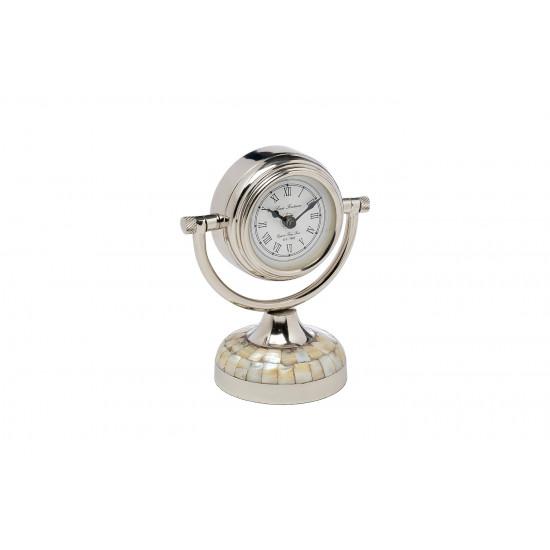Часы настольные круглые хром 79MAL-5327-19NI в интернет-магазине ROSESTAR фото