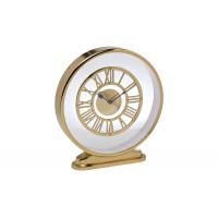 Часы настольные круглые на подставке золотые 79MAL-5730-32G