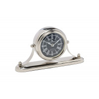 Часы настольные круглые на подставке хром 79MAL-5252-14NI