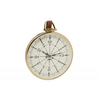 Часы настенные круглые на подвесе золотые 79MAL-5769-65G