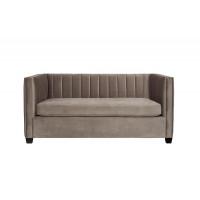 Велюровый двухместный диван серый ZW-707G2