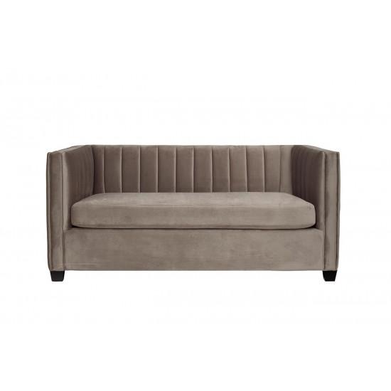 Велюровый двухместный диван серый ZW-707G2 в интернет-магазине ROSESTAR фото