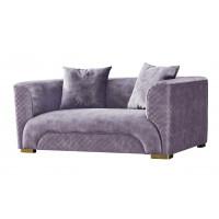 Велюровый двухместный диван бежевый 87YY-2047-2 BG