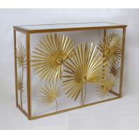 Металлическая золотая консоль Листья 37SM-CST0971