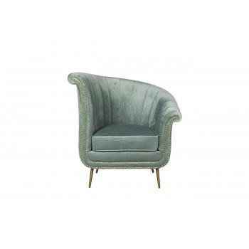 Велюровое кресло мятное правое 48MY-2682-R MNT GO