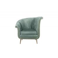 Велюровое кресло мятное левое 48MY-2682-L MNT GO