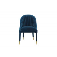 Велюровый синий стул 48MY-3607-1 BLU GO