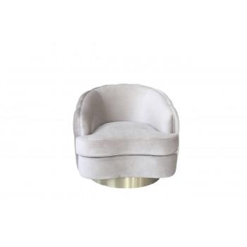 Вращающееся светло-серое велюровое кресло 87YY-1827 BG