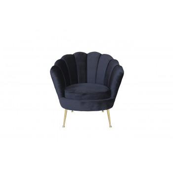 Чёрное кресло велюровое 87YY-1907 BLK