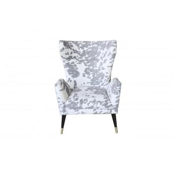 Кресло серо-белое с ушками 87YY-1967