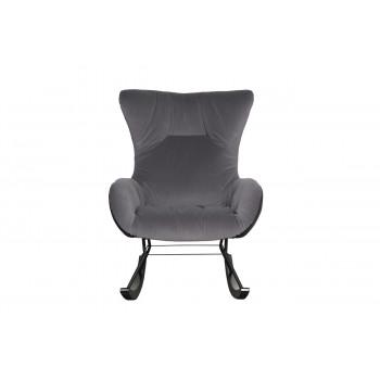 Кресло-качалка велюровое серое 30C-DX-1943-1 GRE