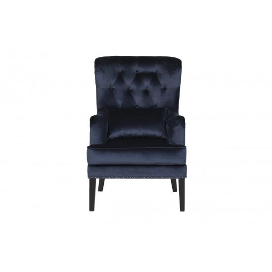 Велюровое кресло синее Rimini RIMINI-2K-СИНИЙ-Bel18 в интернет-магазине ROSESTAR фото