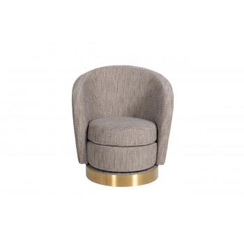 Кресло вращающееся серая-бежевая рогожка Napoli-1K-СЕРО-БЕЖЕВЫЙ-SX7980B-4