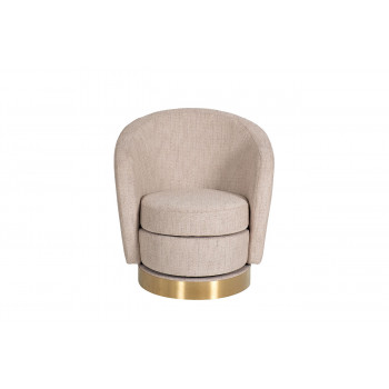 Кресло вращающееся бежевая рогожка Napoli-1K-БЕЖЕВЫЙ-SX7980B-21