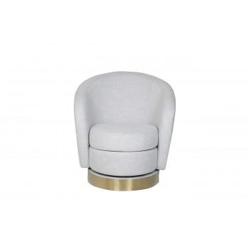 Кресло вращающееся светло-серая рогожка Napoli-1K-СВ.СЕР-Bergamo90