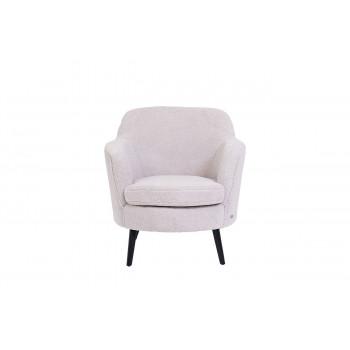 Меховое кресло белое HD2203-408KD WH