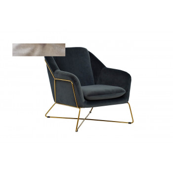 Велюровое кресло бежевое матовое золото 46AS-AR2976-BG