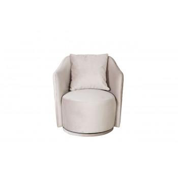 Велюровое кресло вращающееся бежевое VERONA BASIC-2K-БЕЖЕВЫЙ-Bel09