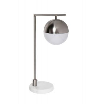 Настольная лампа хром с матовым плафоном 91GH-T01