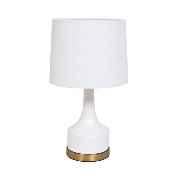 Настольная лампа с белым плафоном 22-88456