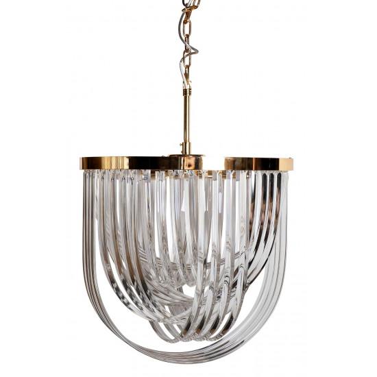 Изящная люстра стекло/золото 20MD3279-6G в интернет-магазине ROSESTAR фото