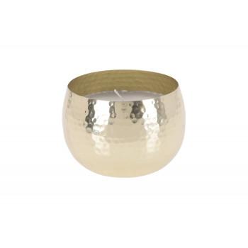 Металлический подсвечник золотой со свечой A54233020
