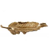 Блюдо декоративное металлическое Лист золото/хром 71PN-0797