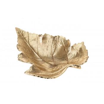 Декоративная золотая тарелка Лист A98003050