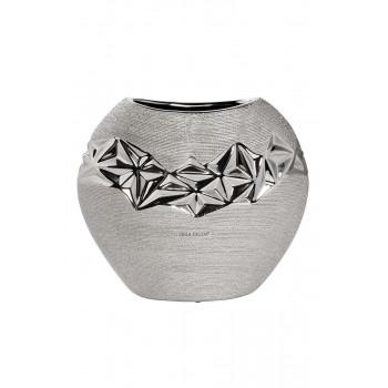 Керамическая ваза серебряная 12*11*22см 18H2816L-1