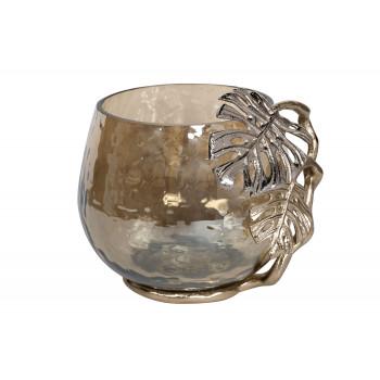 Стеклянный декоративный подсвечник с69-1119272