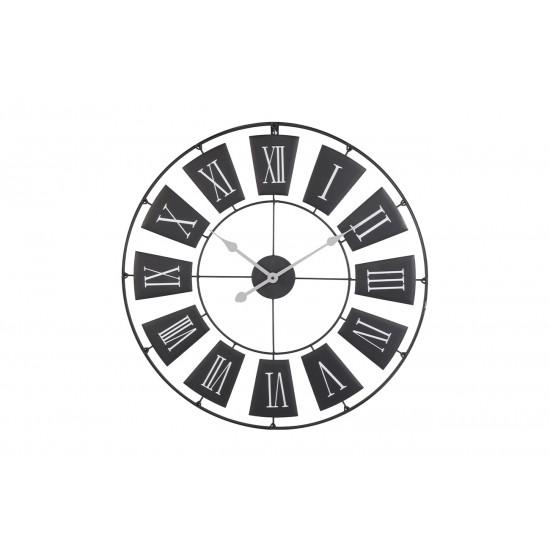 Часы настенные круглые металлические черные HZ1003320 в интернет-магазине ROSESTAR фото