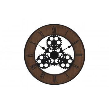 Часы настенные круглые коричневые HZ1300630