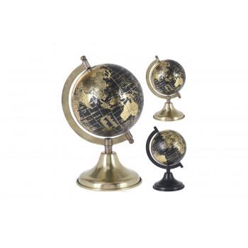 Глобус декоративный золотой на металлической подставке A54910200