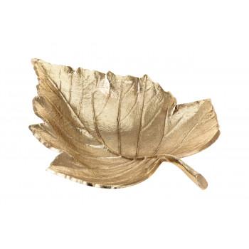 Декоративная золотая тарелка Лист A98003060