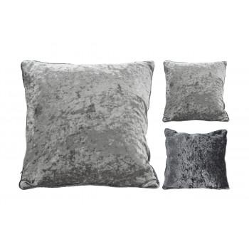 Декоративная велюровая подушка 30х50 см серая AAE322650