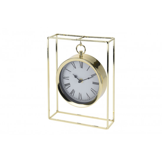 Часы настольные металлические подвесные золотые NBE000020 в интернет-магазине ROSESTAR фото