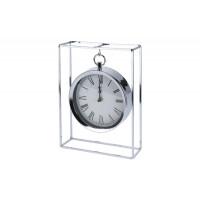Часы настольные металлические подвесные хром NBE000050