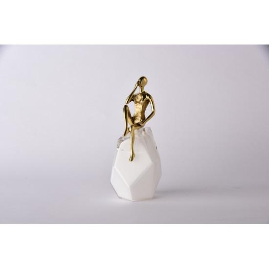 Статуэтка Мечтатель золотая 55RD4346M в интернет-магазине ROSESTAR фото