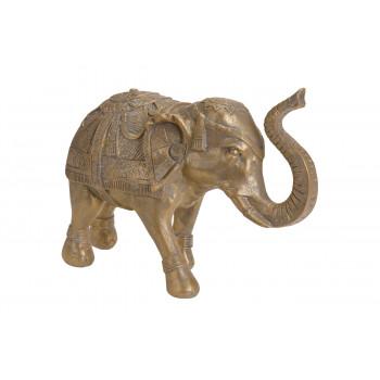 Статуэтка Слон золотая полистоун A98000450