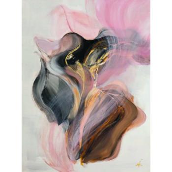 Холст В цвете пудры в багете в багете шампань 89VOR-AQUARELLE27