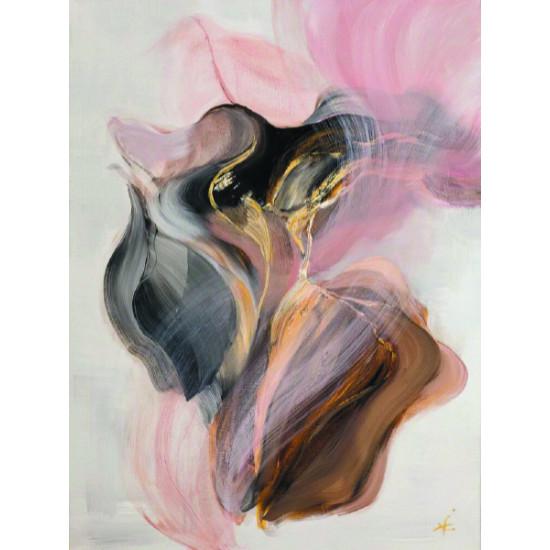 Холст В цвете пудры в багете в багете шампань 89VOR-AQUARELLE27 в интернет-магазине ROSESTAR фото