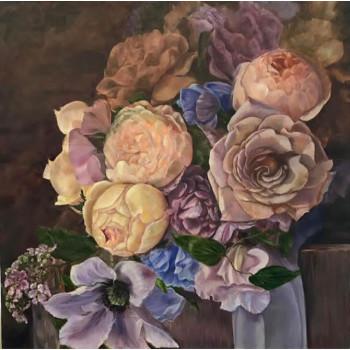 Холст Букет с розами 89VOR-AQUARELLE35