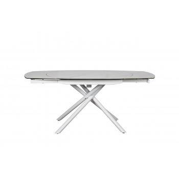 Стол обеденный раздвижной керамический белый 83MC-1957DT WH