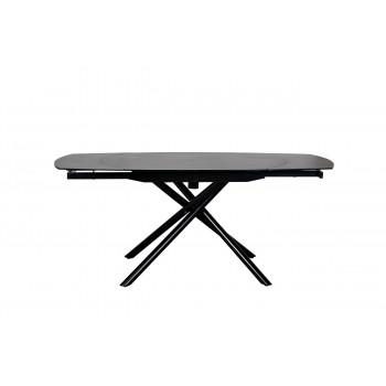Стол обеденный раскладной керамический черный 83MC-1957DT BL