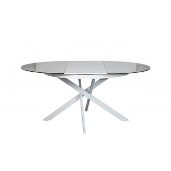 Стол обеденный круглый раскладной керамический белый 83MC-1907DT WH