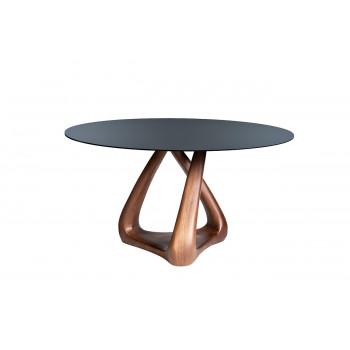 Стол обеденный круглый со стеклом 77IP-DT643