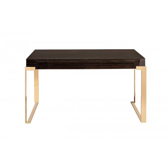 Письменный стол Golden Prism коричневый/золото 84HB-D319P в интернет-магазине ROSESTAR фото