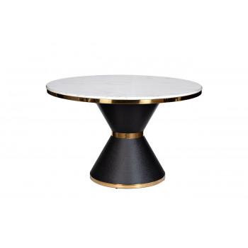 Стол обеденный круглый искусственный мрамор/черный металл 76AR-DT813