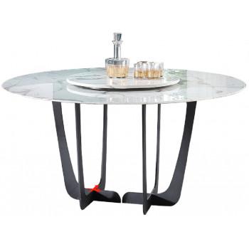 Стол обеденный круглый искусственный мрамор/черный металл 76AR-DT818
